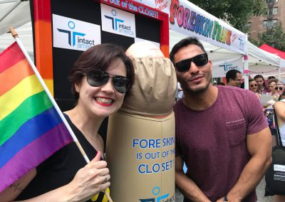 NYC Pridefest with Intact America's Foreskin Frank