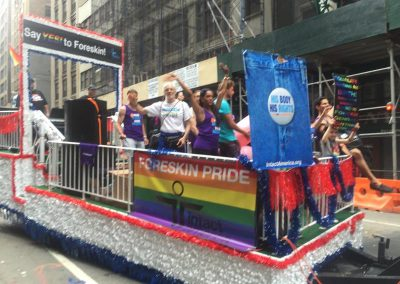 NYC Pride March - Intact America float