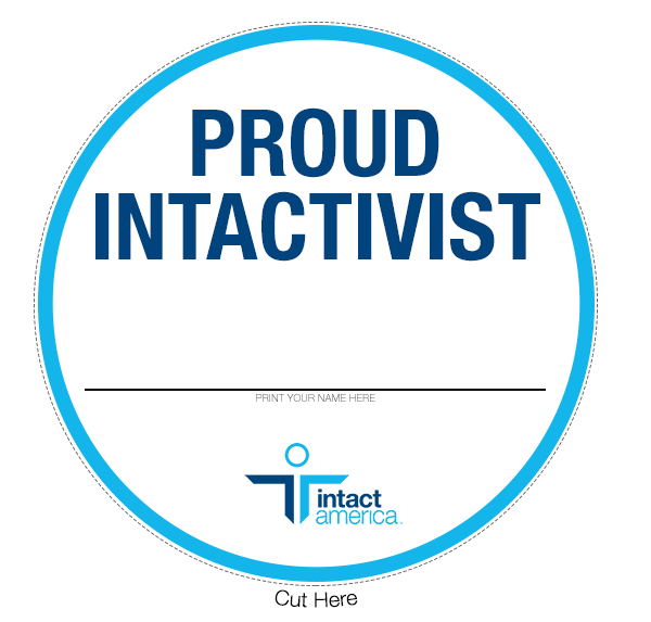 Virtual Intactivist Pride Event Button 2020